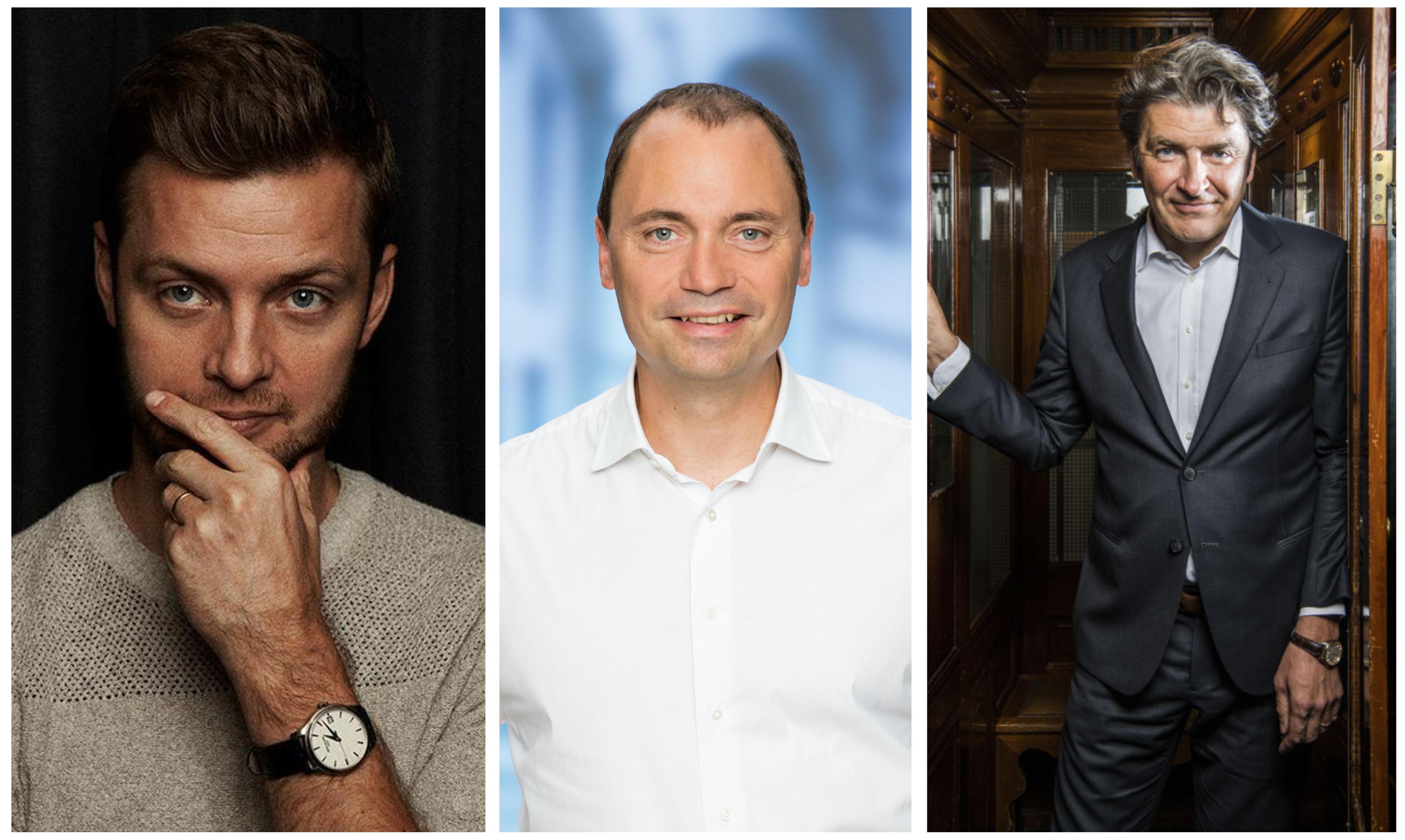 Johan Bülow, Tommy Ahlers og André Rogaczewski